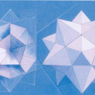 pentagon dodecaeder in en uitgeklapt